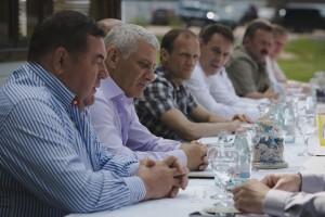 Официальная часть. Слева направо: Василий Шестаков, Борис Ротенберг, Владимир Драчёв, Вадим Кузнецов.