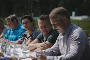 По центру – президент Фонда Алексей Патрушев